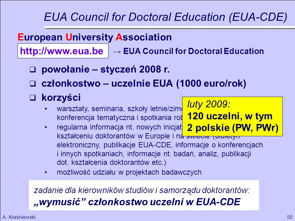 EUA Council for Doctoral Education (EUA-CDE)