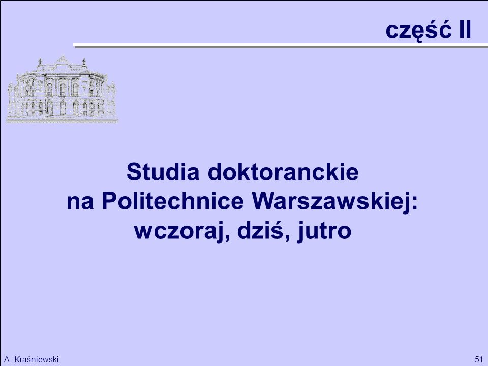 na Politechnice Warszawskiej: