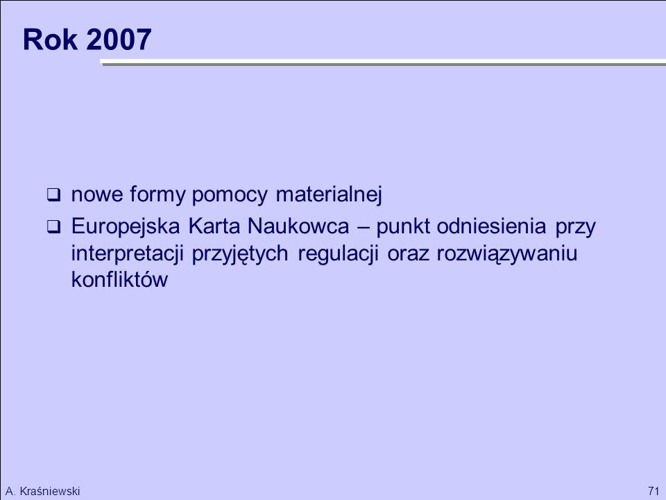 Rok 2007 nowe formy pomocy materialnej