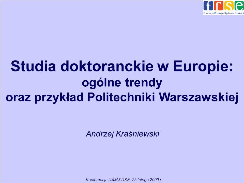 Studia doktoranckie w Europie: ogólne trendy