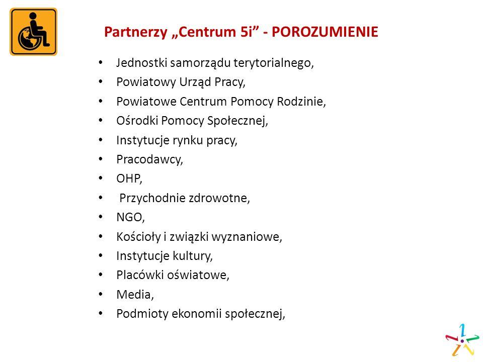 """Partnerzy """"Centrum 5i - POROZUMIENIE"""