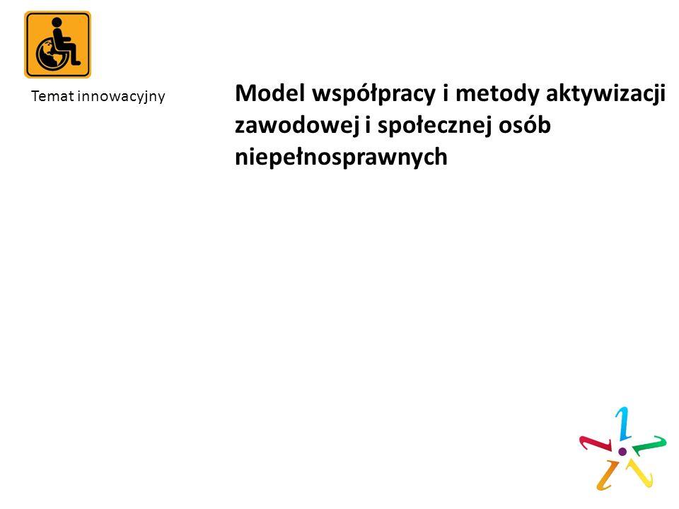 Temat innowacyjny. Model współpracy i metody aktywizacji