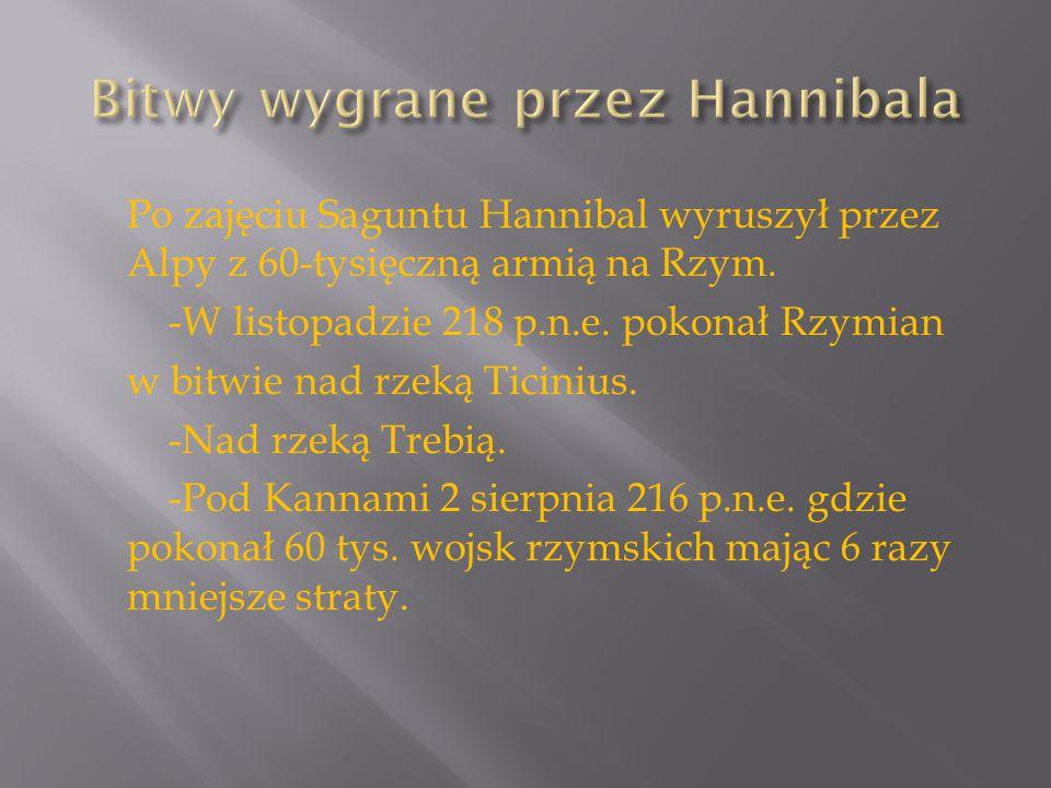 Bitwy wygrane przez Hannibala