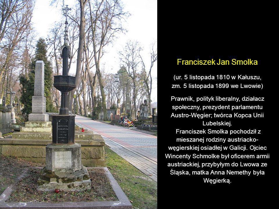 Franciszek Jan Smolka (ur. 5 listopada 1810 w Kałuszu,