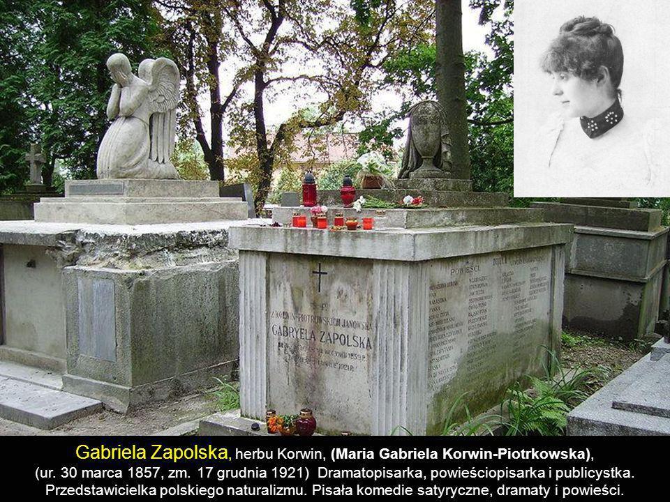 Gabriela Zapolska, herbu Korwin, (Maria Gabriela Korwin-Piotrkowska),
