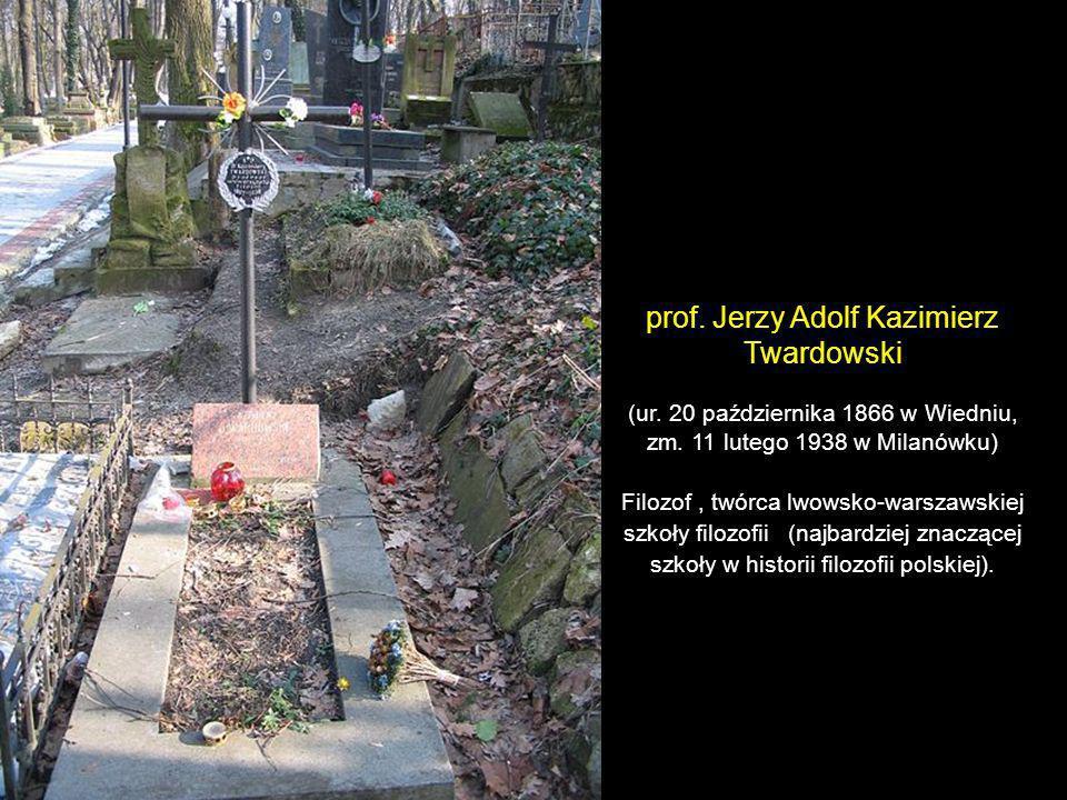 prof. Jerzy Adolf Kazimierz Twardowski