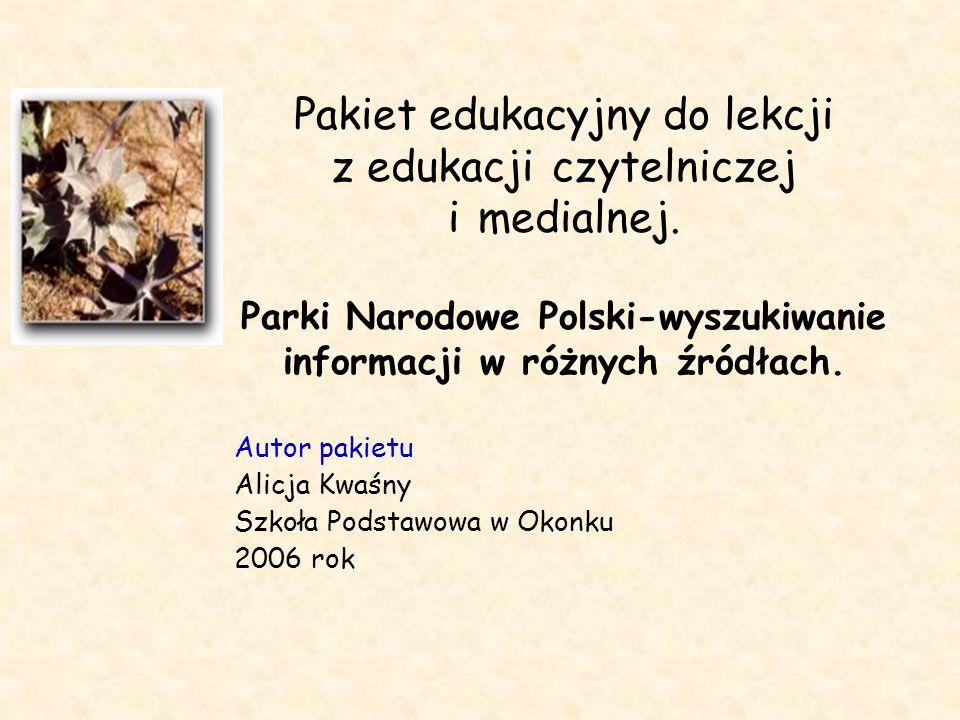 Autor pakietu Alicja Kwaśny Szkoła Podstawowa w Okonku 2006 rok
