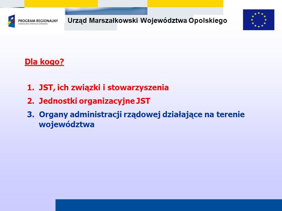 Dla kogo 1. JST, ich związki i stowarzyszenia. 2. Jednostki organizacyjne JST.