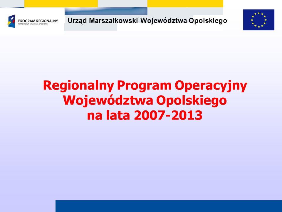Regionalny Program Operacyjny Województwa Opolskiego na lata 2007-2013