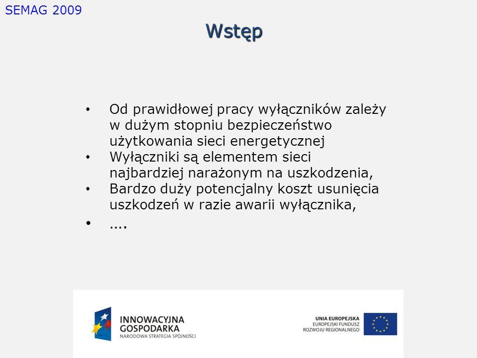 SEMAG 2009 Wstęp. Od prawidłowej pracy wyłączników zależy w dużym stopniu bezpieczeństwo użytkowania sieci energetycznej.