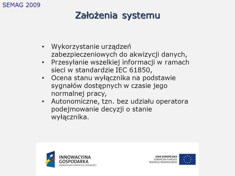 SEMAG 2009 Założenia systemu. Wykorzystanie urządzeń zabezpieczeniowych do akwizycji danych,