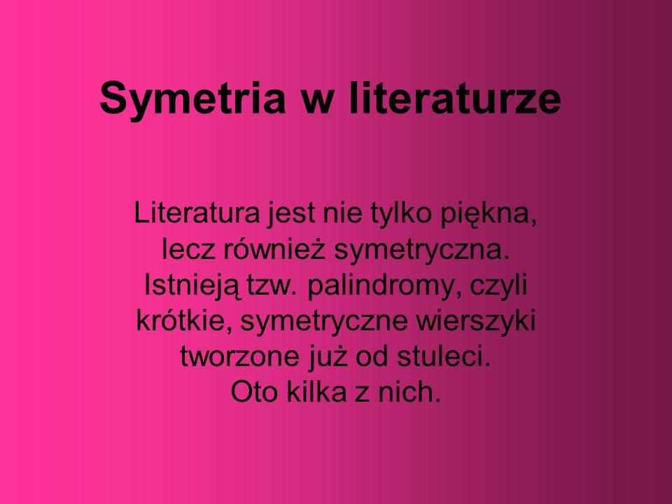 Symetria w literaturze