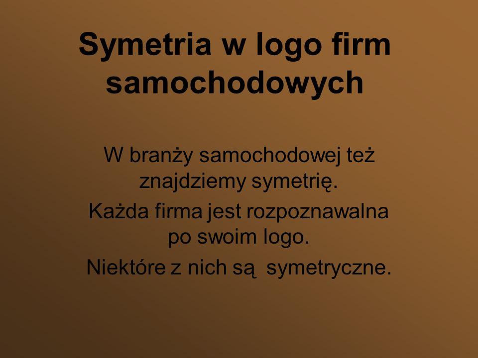 Symetria w logo firm samochodowych