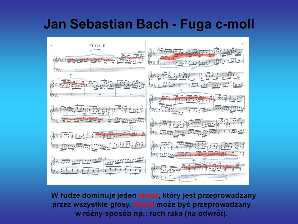 Jan Sebastian Bach - Fuga c-moll