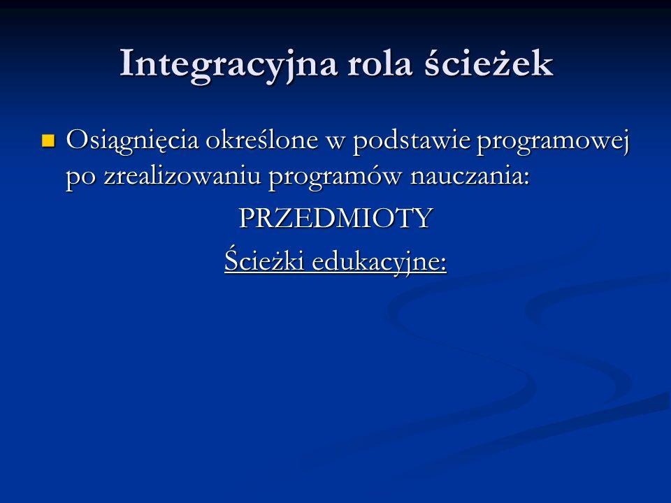 Integracyjna rola ścieżek