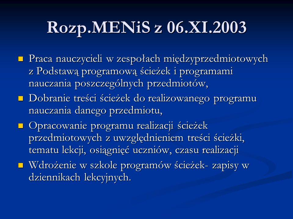 Rozp.MENiS z 06.XI.2003