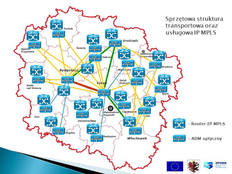 Sprzętowa struktura transportowa oraz usługowa IP MPLS