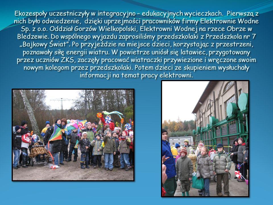 Ekozespoły uczestniczyły w integracyjno – edukacyjnych wycieczkach