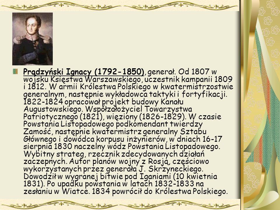 Prądzyński Ignacy (1792-1850), generał