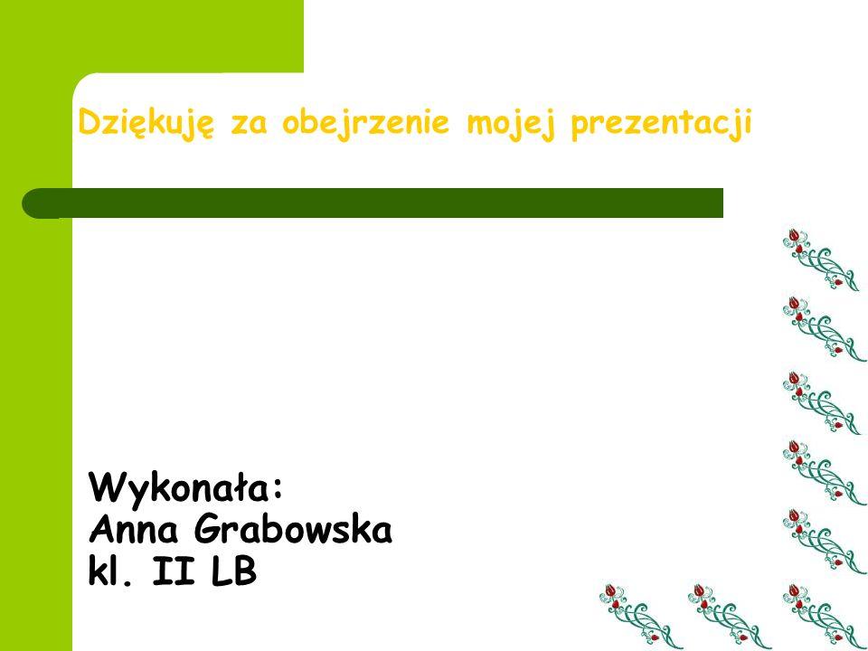 Wykonała: Anna Grabowska kl. II LB