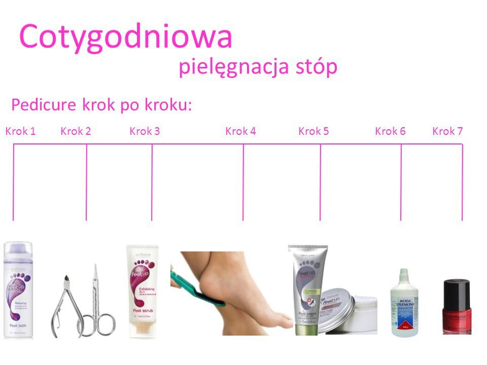 Cotygodniowa pielęgnacja stóp Pedicure krok po kroku: Krok 1 Krok 2