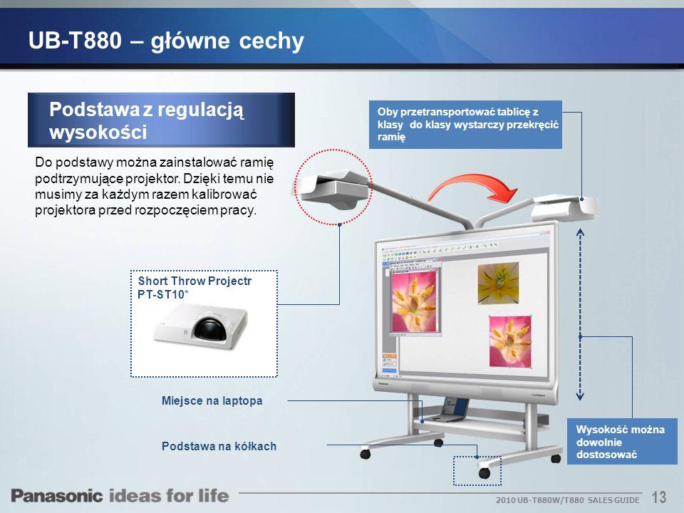 UB-T880 – główne cechy Podstawa z regulacją wysokości