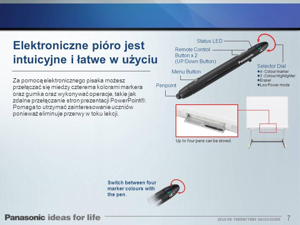 Elektroniczne pióro jest intuicyjne i łatwe w użyciu