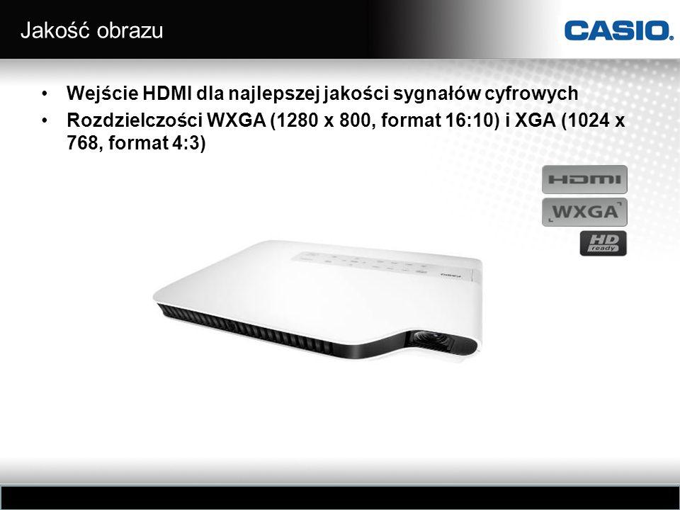 Jakość obrazu Wejście HDMI dla najlepszej jakości sygnałów cyfrowych