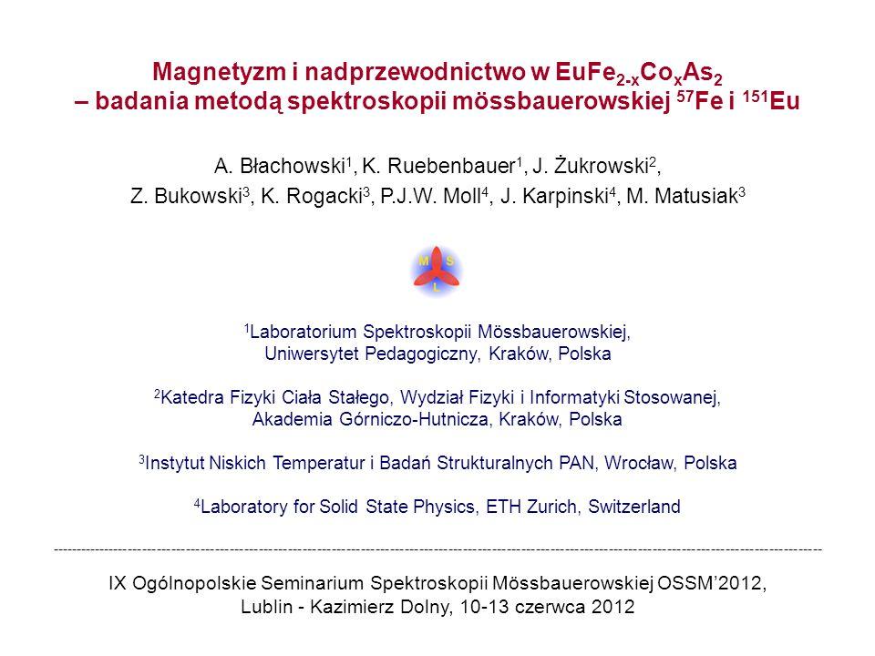 Magnetyzm i nadprzewodnictwo w EuFe2-xCoxAs2