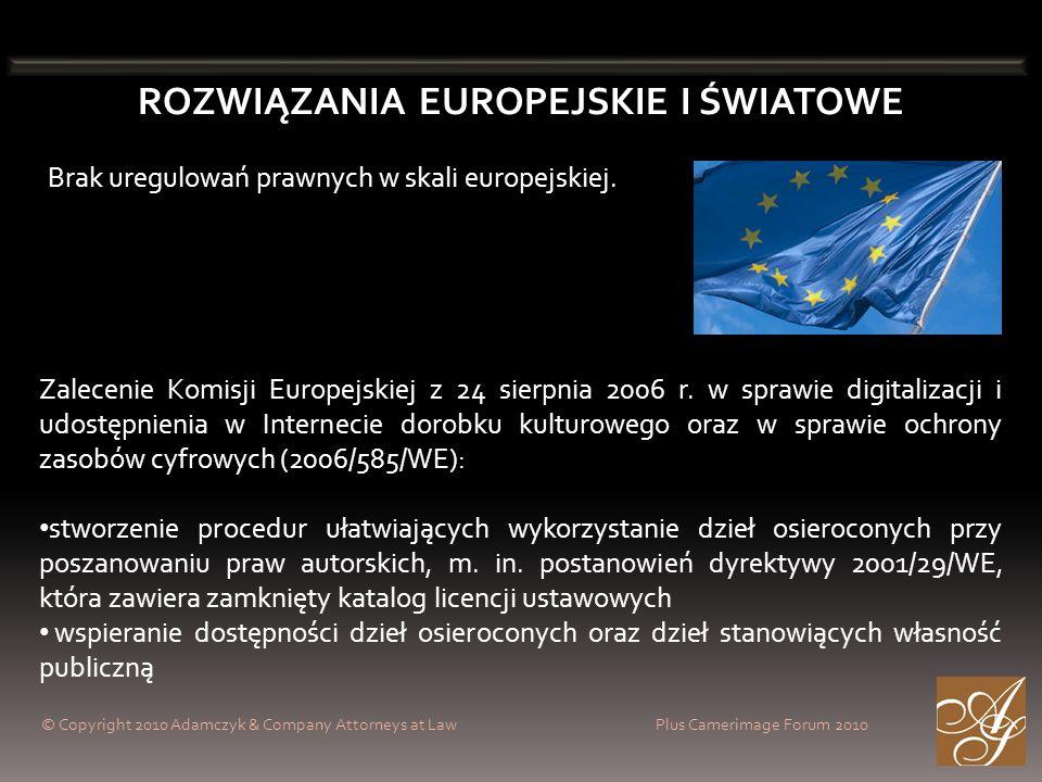 ROZWIĄZANIA EUROPEJSKIE I ŚWIATOWE