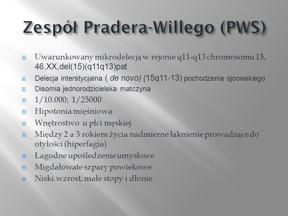 Zespół Pradera-Willego (PWS)