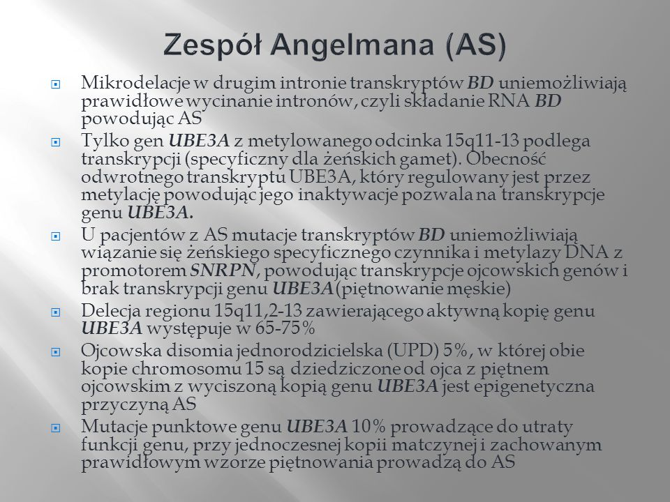 Zespół Angelmana (AS)