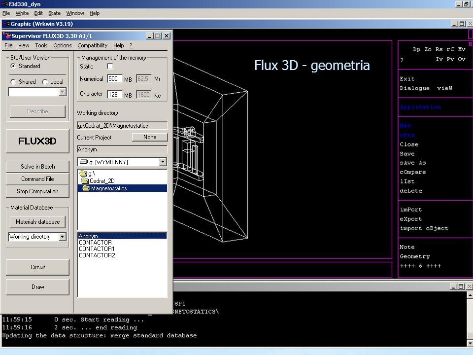 Flux 3D - geometria