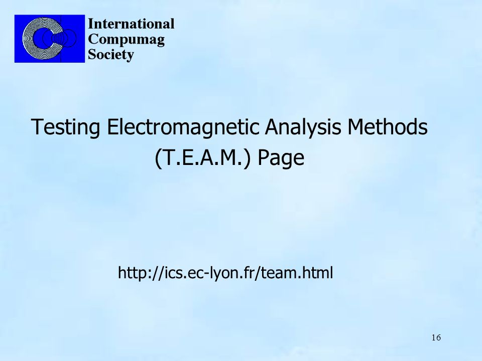 Testing Electromagnetic Analysis Methods (T.E.A.M.) Page