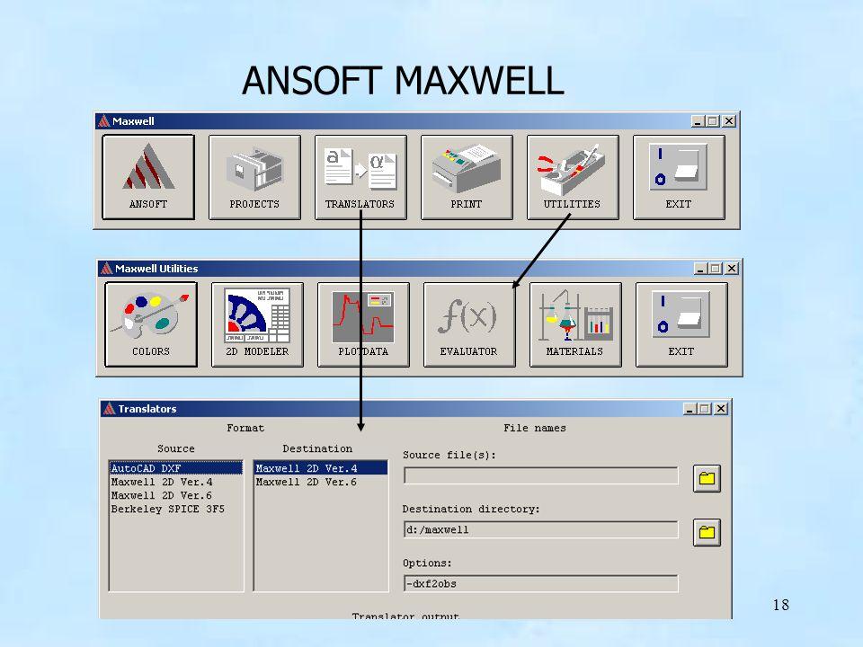 ANSOFT MAXWELL