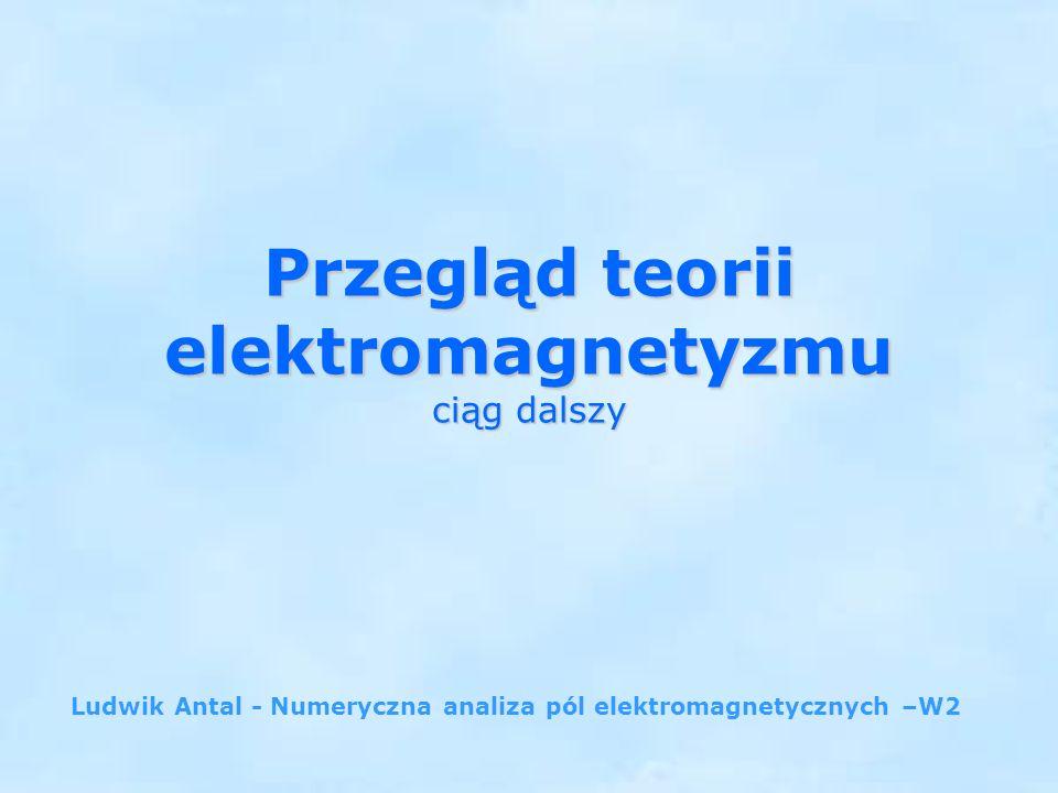 Przegląd teorii elektromagnetyzmu ciąg dalszy