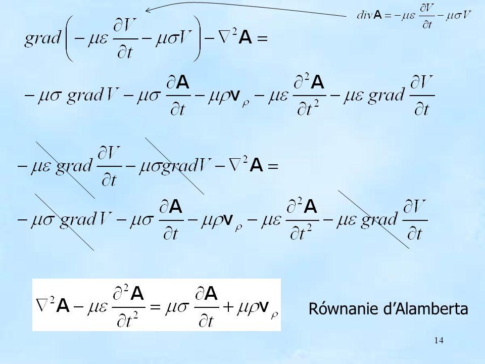 Równanie d'Alamberta Równanie d'Alamberta