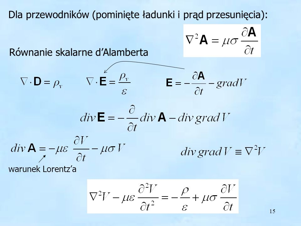 Równanie skalarne d'Alamberta
