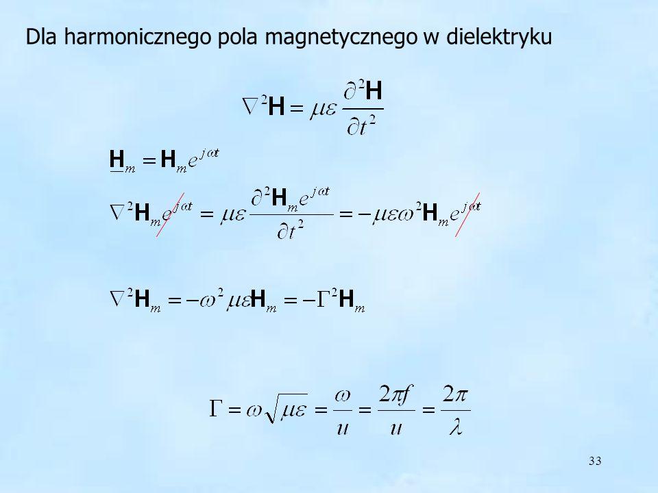 harmoniczne pole w dielektryku