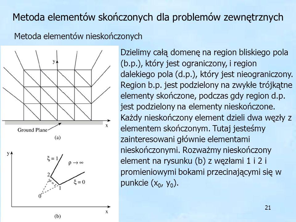 Metoda elementów skończonych dla problemów zewnętrznych