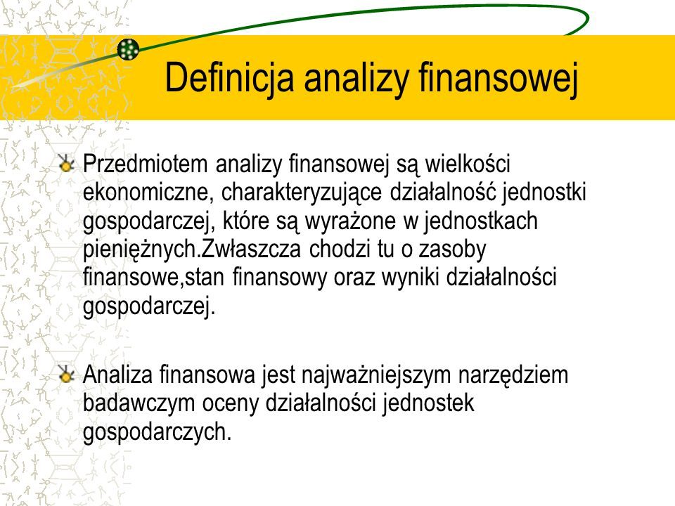Definicja analizy finansowej