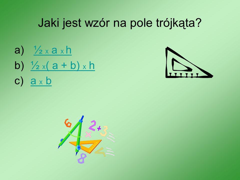Jaki jest wzór na pole trójkąta