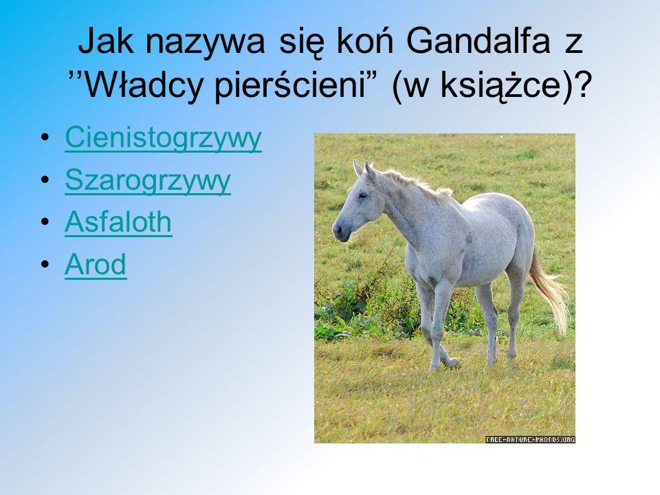Jak nazywa się koń Gandalfa z ''Władcy pierścieni (w książce)