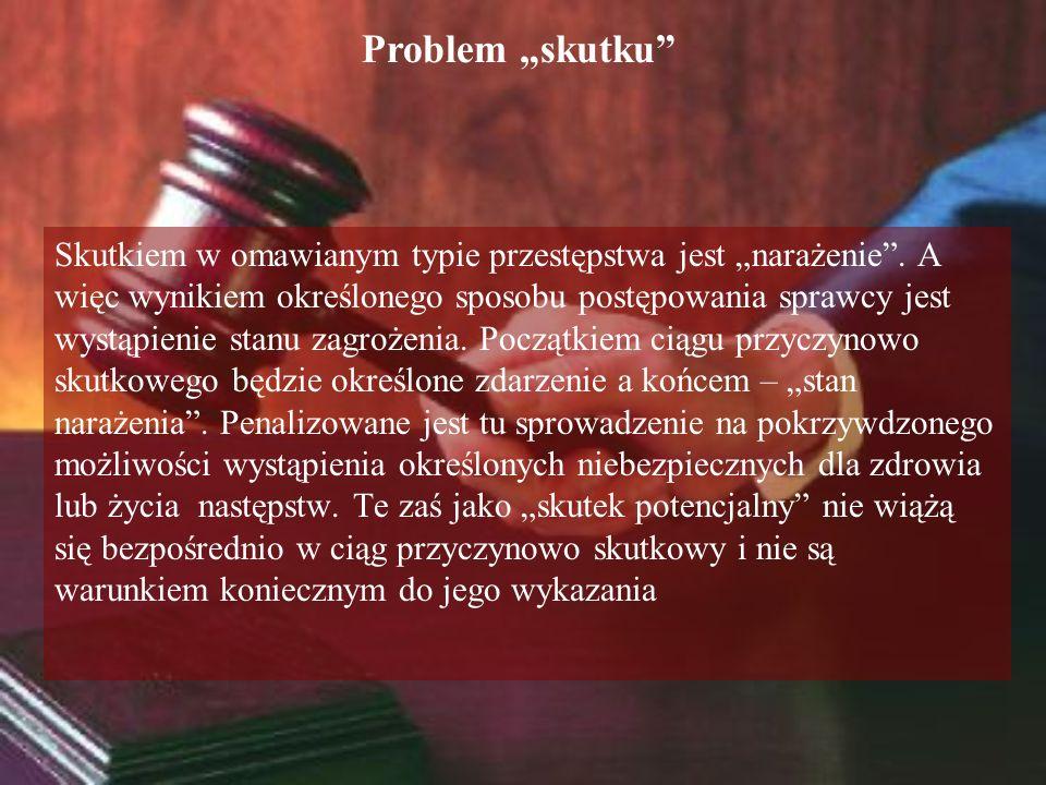 """Problem """"skutku"""