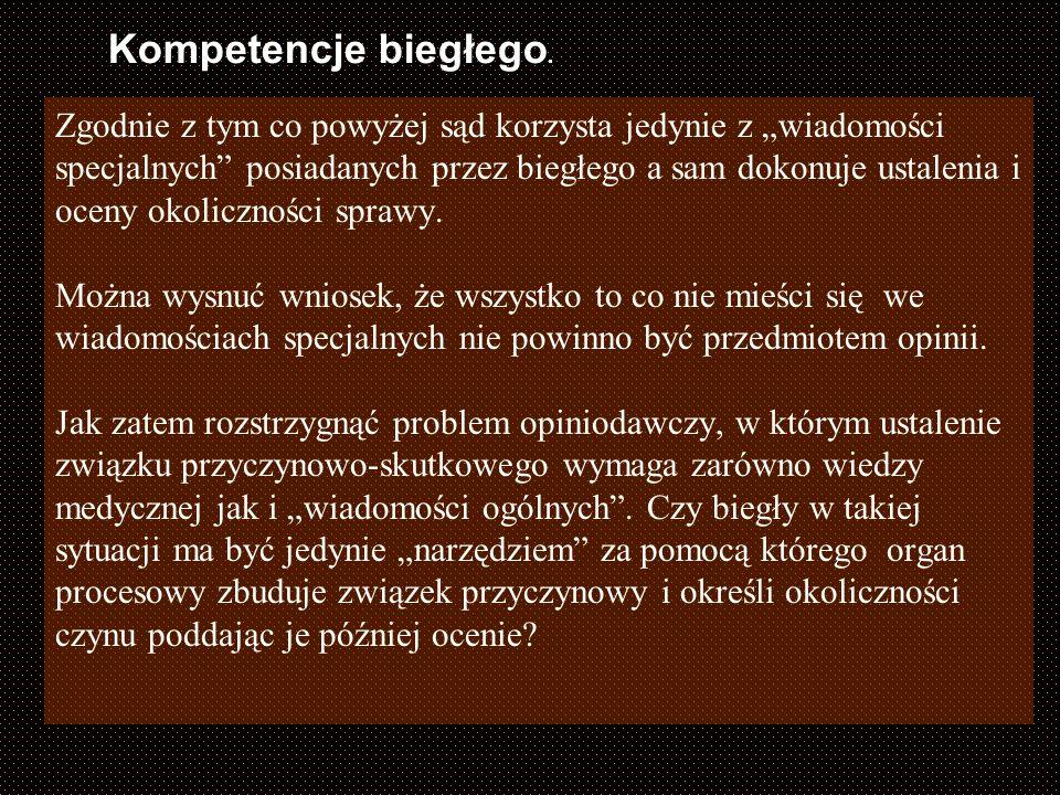Kompetencje biegłego.