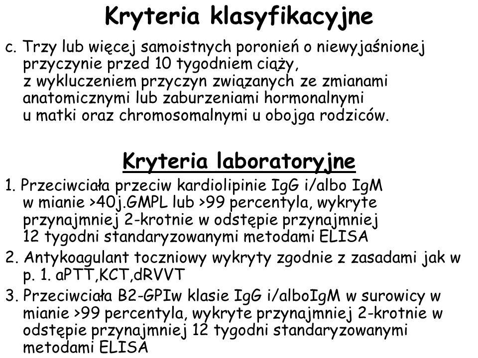 Kryteria klasyfikacyjne