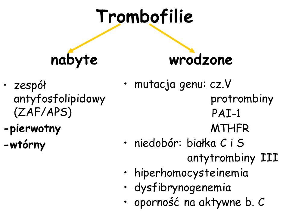 Trombofilie nabyte wrodzone