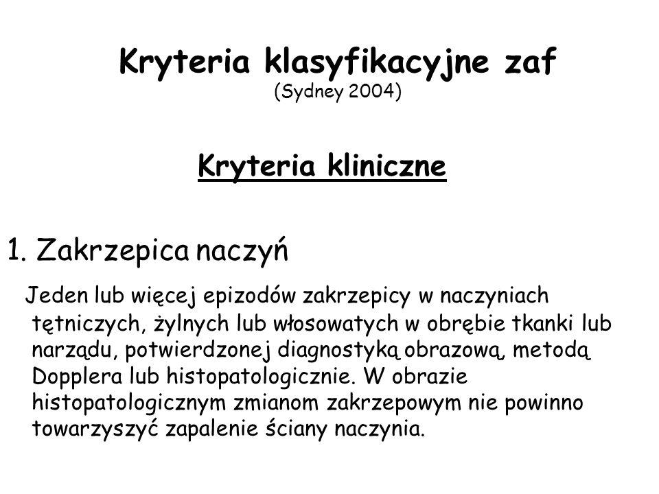 Kryteria klasyfikacyjne zaf (Sydney 2004)