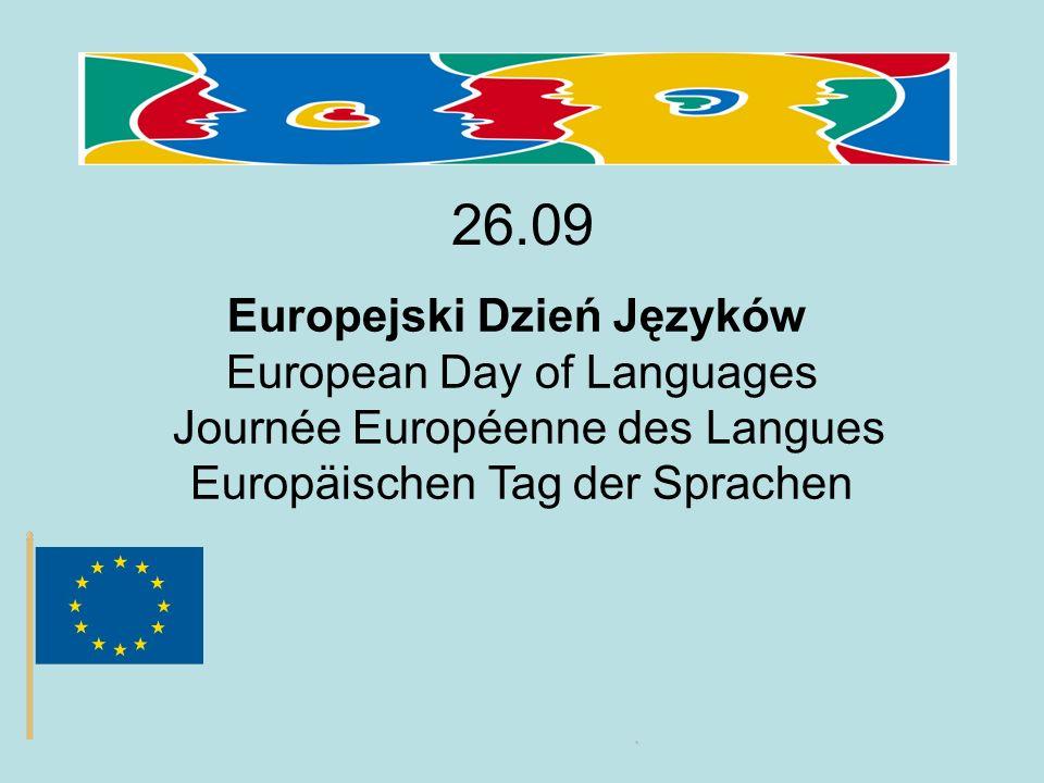 26.09 Europejski Dzień Języków European Day of Languages