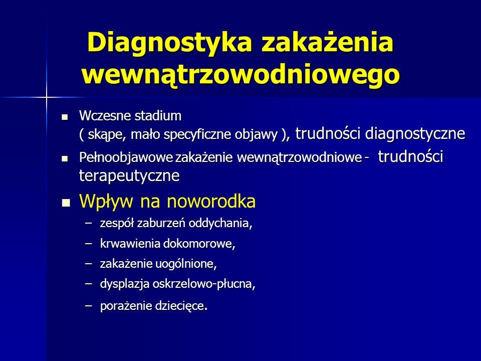 Diagnostyka zakażenia wewnątrzowodniowego